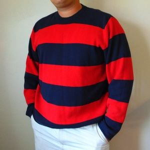 Hollister Red and Navy Stripe Sweater